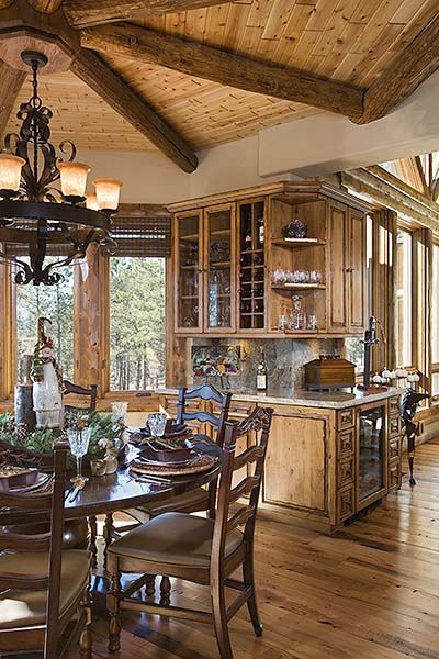 160 best Interiors of Log Homes from Town & Country Homes images by ...