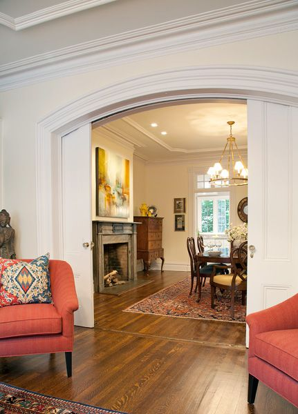Front Parlor And Dining Room Of A Brooklyn Row House
