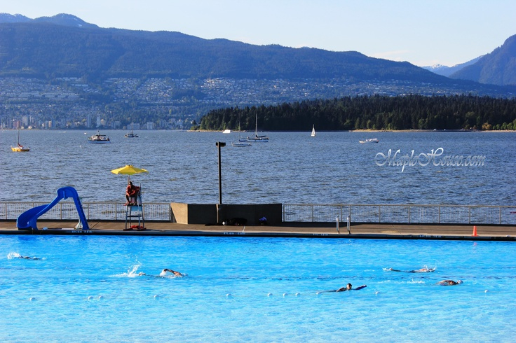 Kitsilano Pool - Vancouver's largest draw & fill salt water pool was opened at the water's edge in 1931 and became an instant success. It was replaced in 1979 by an oceanside tank (about 150 meters at its outer most edge) which sports salt water and is heated. http://vancouver.ca/parks/rec/beaches/kitsb.htm