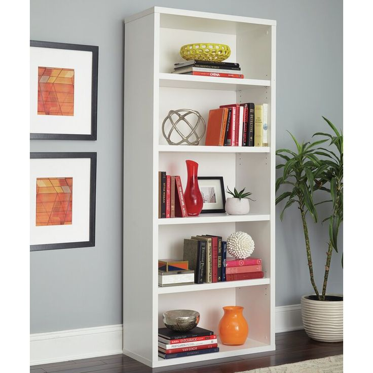 Decorative standard bookcase white bookcase shelves