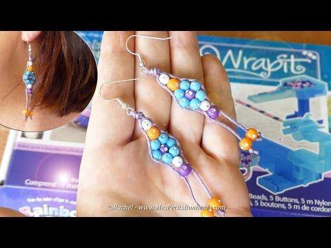 Tuto - Boucles d'oreilles en perles tissées avec le WRAPIT Loom - YouTube
