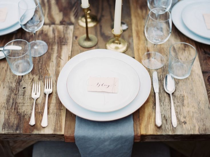 Simple Restaurant Table Setting