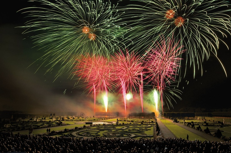 International Fireworks Competition at the Royal Gardens of Herrenhausen in Hanover, Germany