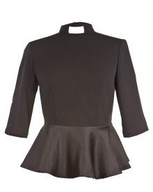 Miriam Peplum Clergy Top Black