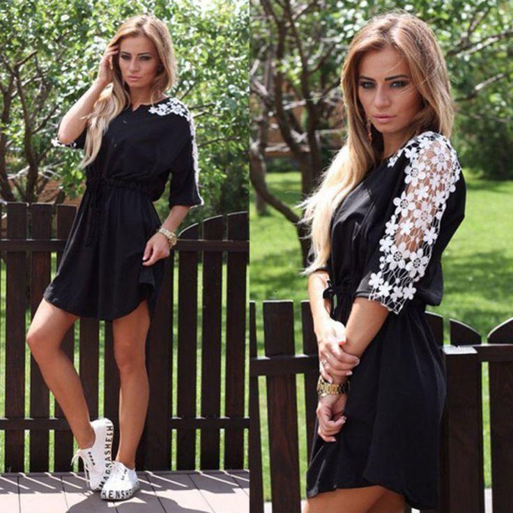 Dámské letní šaty s květinovými rukávy černé – Velikost L Na tento produkt se vztahuje nejen zajímavá sleva, ale také poštovné zdarma! Využij této výhodné nabídky a ušetři na poštovném, stejně jako to udělalo již …