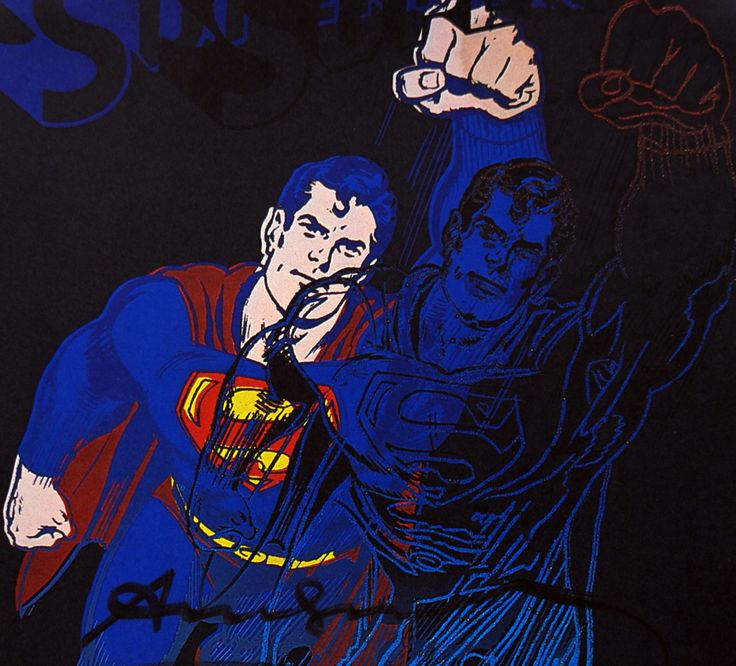 Andy Warhol Superman Signed Bookplate