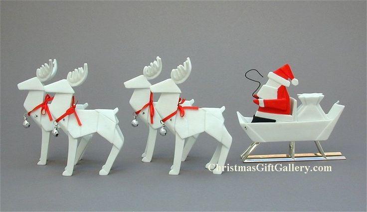 how to make a paper santa sleigh