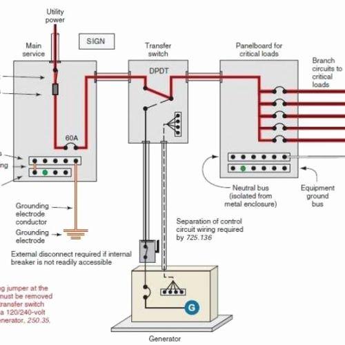 wiring a transfer switch diagram