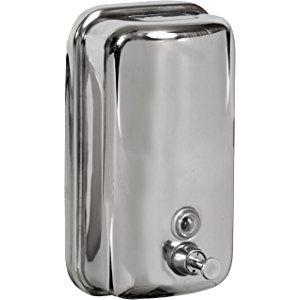 Bisk 01416 Dispensador de jabón 1000ml, acero inoxidable