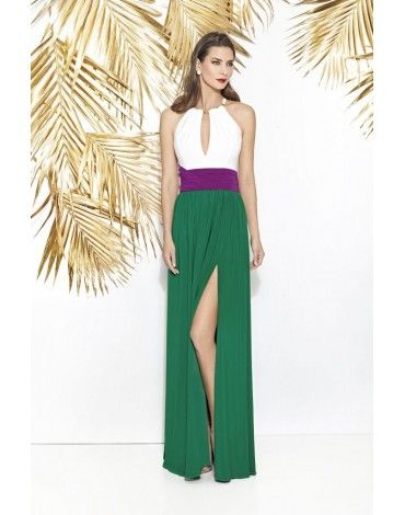 Cabotine Collection vestido largo verde