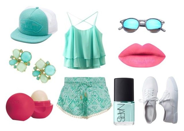 blue fashion by dianka-donutek-jasanska on Polyvore featuring Paloma Blue, Aéropostale, Kate Spade, Vans, Eos and NARS Cosmetics