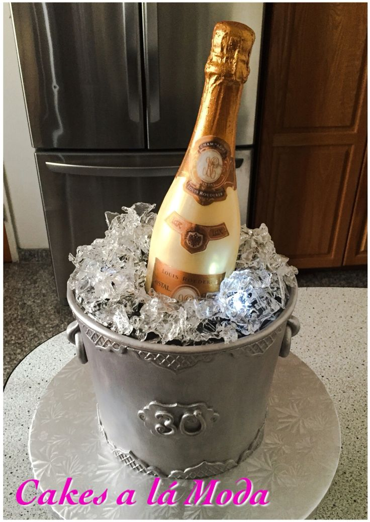 All Edible Champagne Ice Bucket Cake Bottle Made From