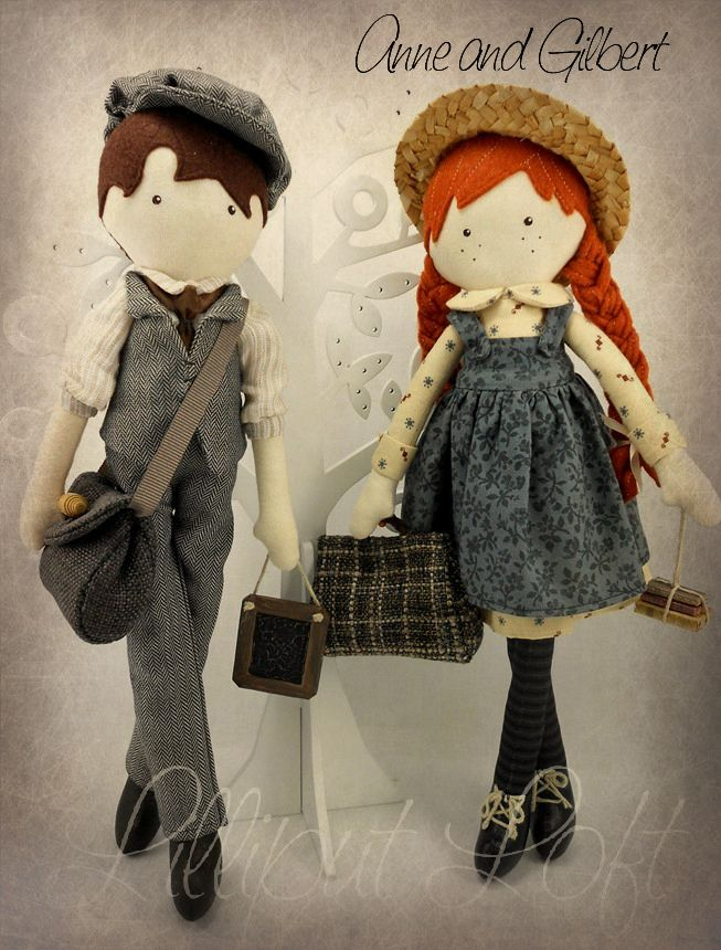 Anne of Green Gables and Gilbert Blythe  Pretty Poppets   © Lilliput Loft 2012