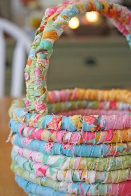 Fabric Easter Basket Tutorial. My idea for these would be as storage