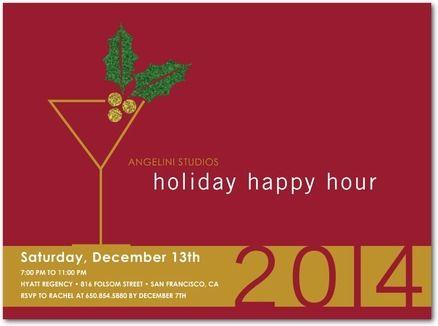 Holiday Happy Hour Corporate Party Invitations In Rh Com Birthday Invitation Wording Retiremen