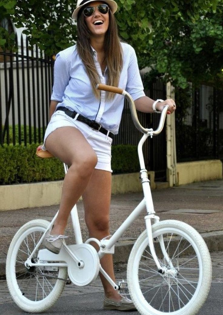Vintage folding bike... love it!  You should totally get a folding bike...