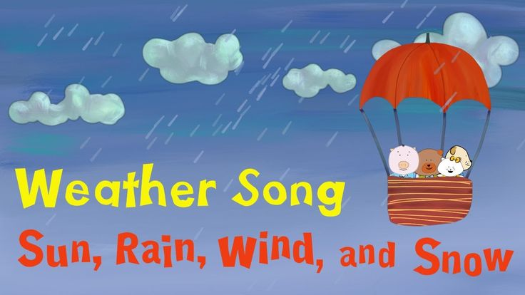 "The Singing Walrus presents ""Sun, Rain, Wind, and Snow"", a fun folk song for children that explains different types of weather. In each verse, our cute characters set out in their balloon to explore all the fun things you can do when it's sunny, rainy, windy, or snowy. This is a great introduction for children to learn about the 4 seasons. ESL teachers can pair the weather words with the season - e.g. ""sunny"" with ""summer"", ""rainy"" with ""spring"", ""windy"" with ""fall"", and ""snowy"" with…"