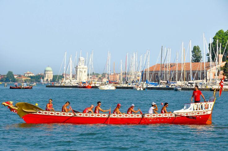 Pisa's boat, Regatta of the Ancient Maritime Republics, Venice, Italy