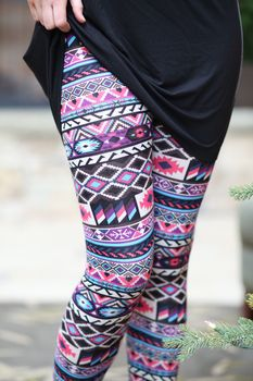 Tribal Aztec Leggings Modern Vintage Boutique