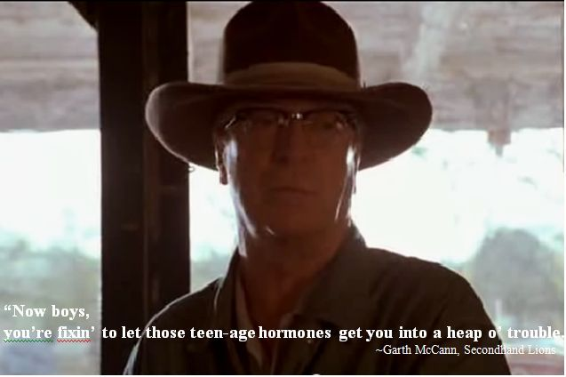 Well Said, Uncle Garth. Well Said! ;) Secondhand Lions