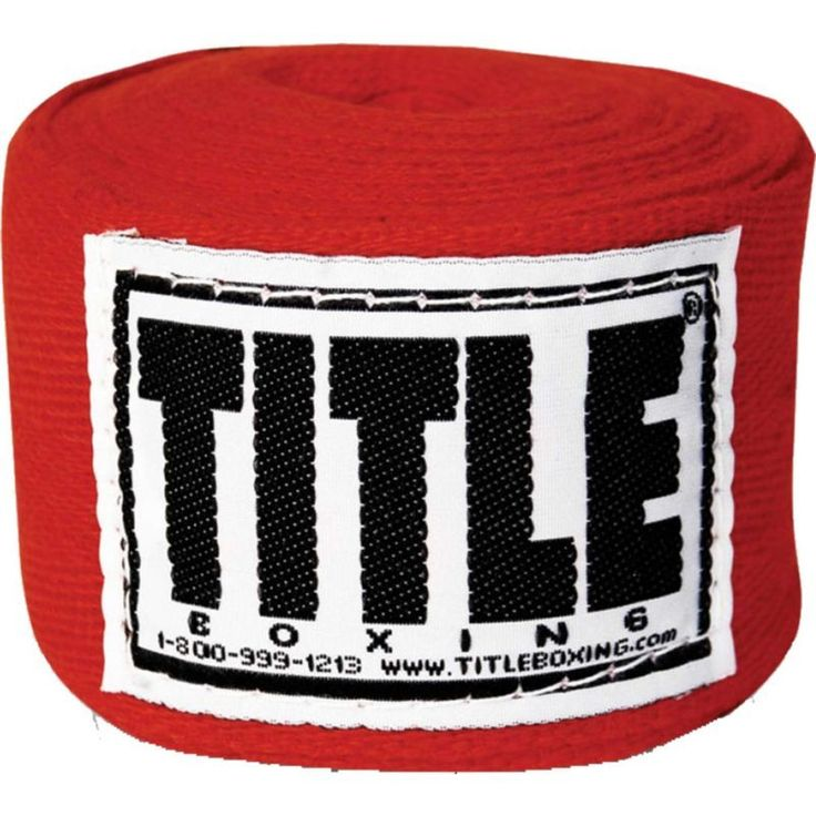 Title Boxing Traditional Weave 180'' Handwraps, Red
