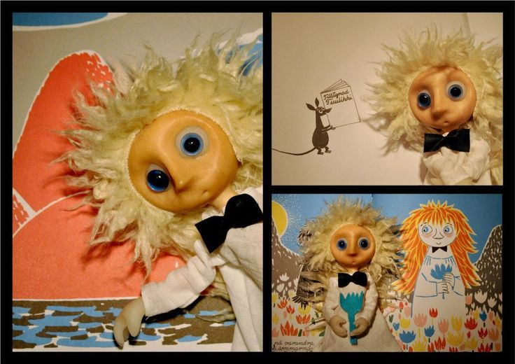 Who will Comfort Toffle? // Vem ska trösta Knyttet? // Kto pocieszy Maciupka?  Skrutt from Tove Janssons story. Created for swedish Montessori scholar system. Each doll is about 15 cm tall. Made by Maria Janczak ( mariajanczak.art.pl )