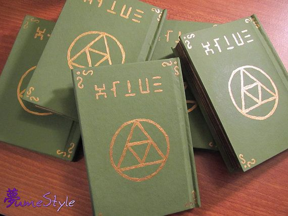 Hey, I found this really awesome Etsy listing at http://www.etsy.com/listing/120332990/hylian-notebook-legend-of-zelda-prop