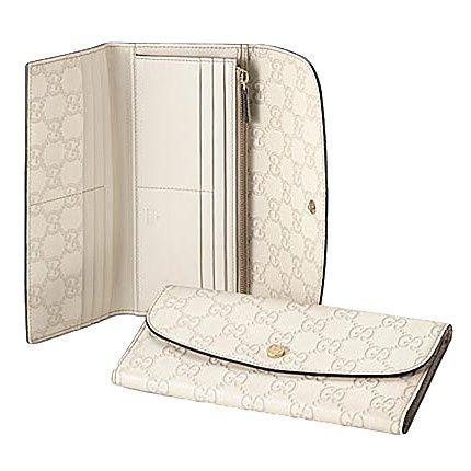Gucci Continentale Portafoglio Con Blocco Dettaglio G Bianco 256 GI582