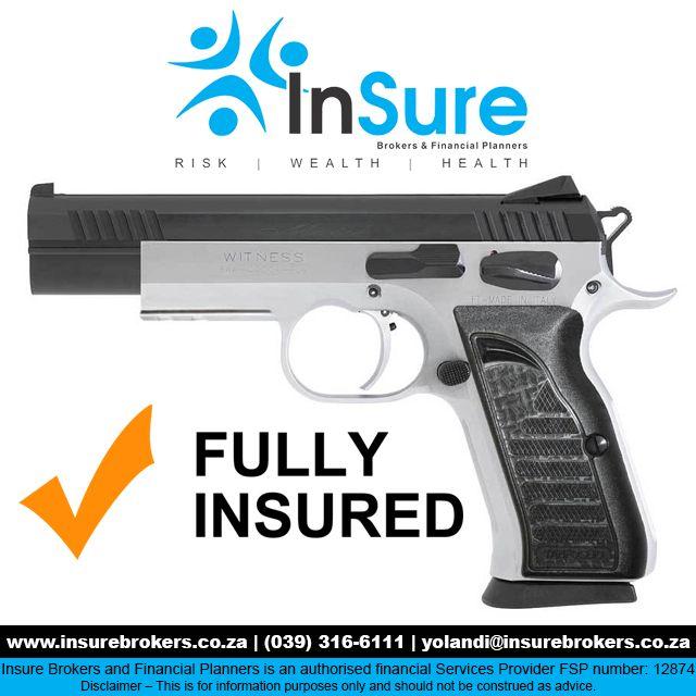 INsure your fire arms #ShortTermInsurance http://bit.ly/1P3NuHg