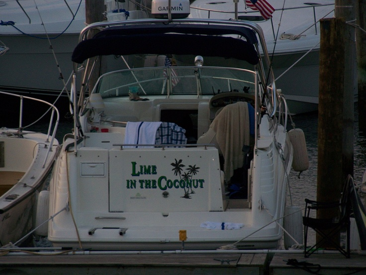 Best boat name ever!  I would name my boat this in honor of my dad and uncle!
