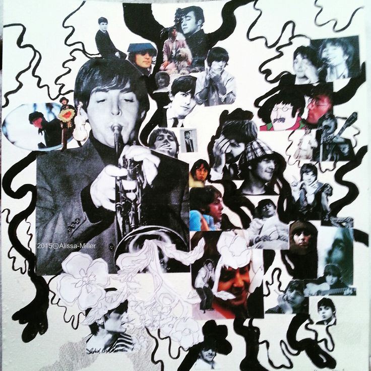 Beatles collage made for Lizzie's b-day. 2015