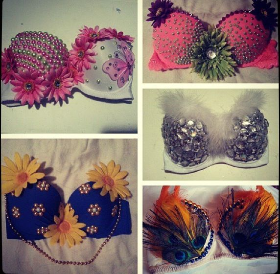 Diy Rave Bras Easy Craft Ideas