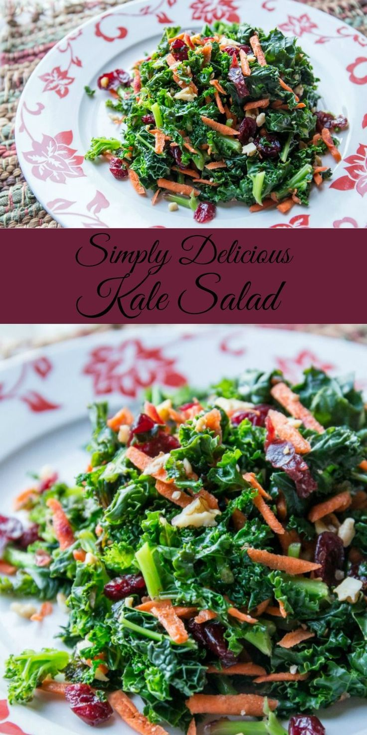 Delicious and easy kale salad recipe your whole family will love // evolvingmotherhood.com