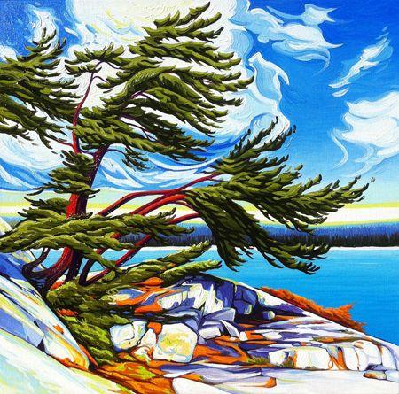 """""""Tip of Island, Fraser Bay"""" by Margarethe Vanderpas"""