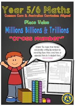 Year 5/6 Place Value Big Numbers Millions Billions ...
