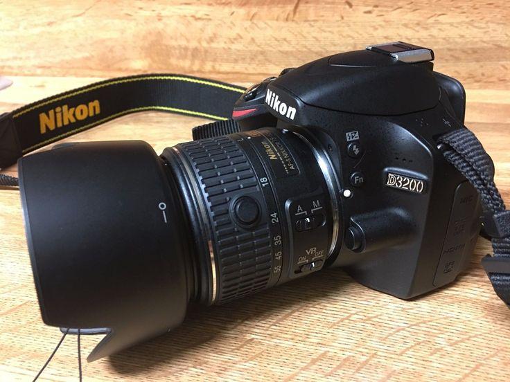 Nikon D3200 24.2MP Digital SLR Camera w/ Nikon DX AF-S 18-55mm lens and Hood