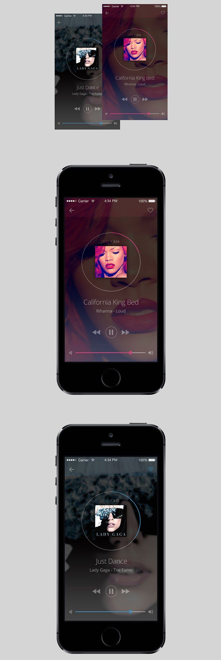 UI for a music player app