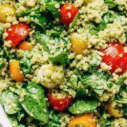 Green Goddess Quinoa Summer Salad Recipe - Pinch of Yum