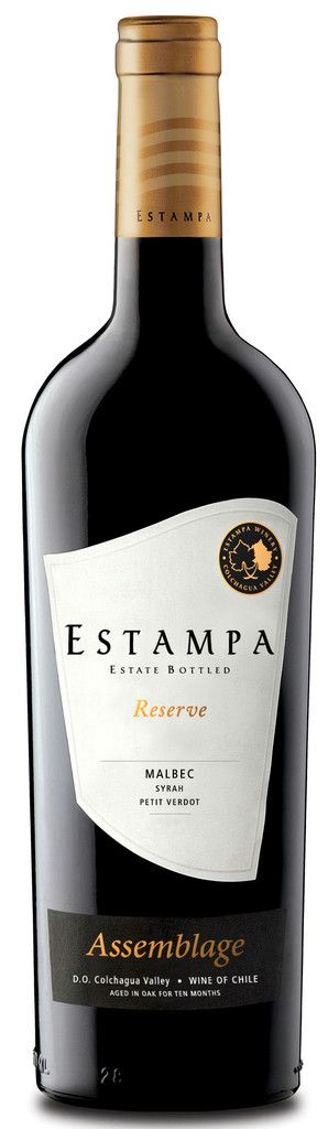 Estampa Reserve Malbec 2011. 70% Malbec, 25% Syrah, 5% Petit Verdot. Grapes mostly from the Marchigüe vineyard. All vinified separately, pre- and post-ferment maceration, 12 months in French barrels, 30% new. Inky colour, floral, violet notes, cassis, bursting with black fruit on the palate with grainy tannins and bright acidity.