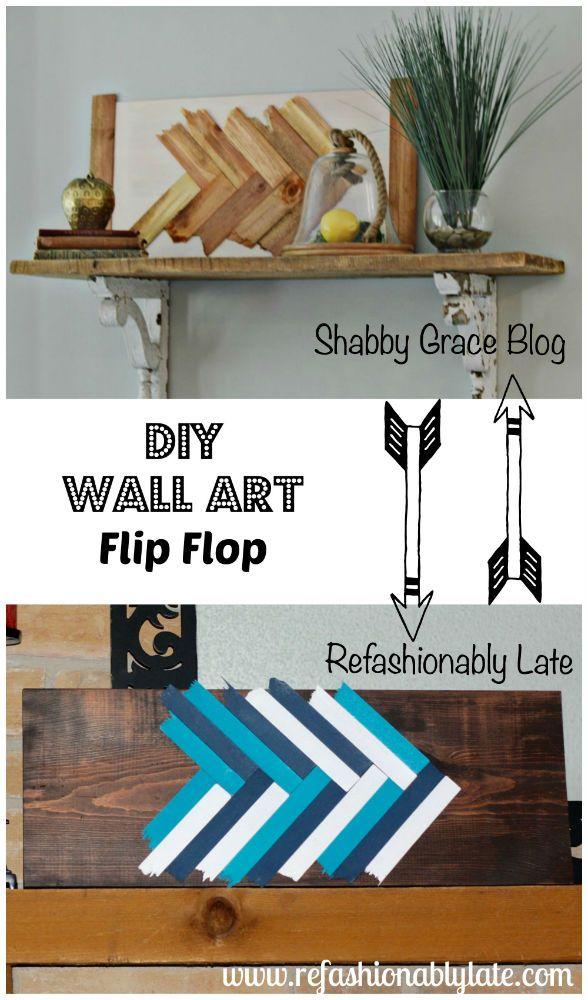 DIY Wall Art Flip Flop - www.refashionablylate.com