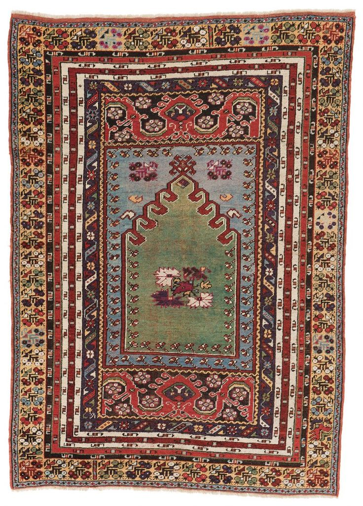 Kirsehir Prayer Rug  172 x 123 cm (5ft. 8in. x 4ft.) Turkey ca. 1880