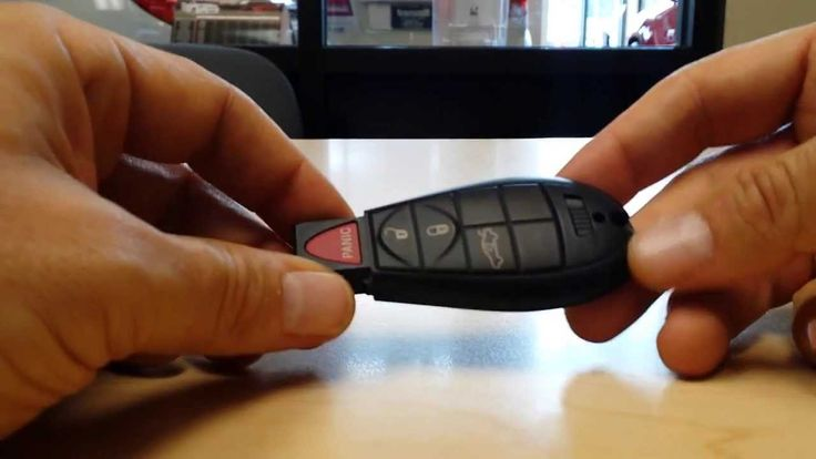 Chrysler jeep dodge ram fobik key fob battery change