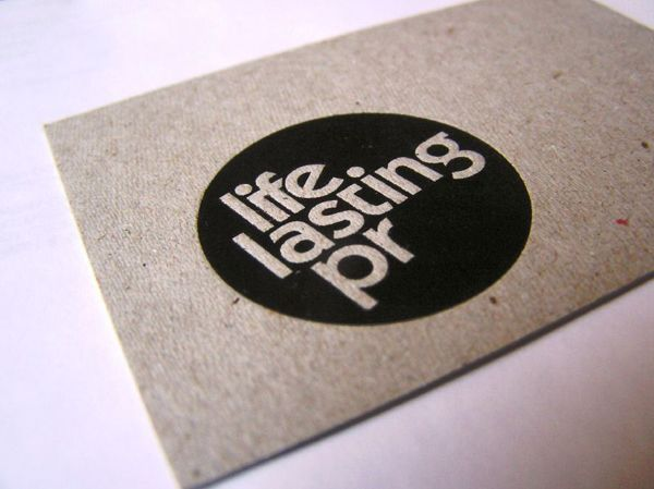 such a clean simple design with maximum effect: business card from life lasting pr