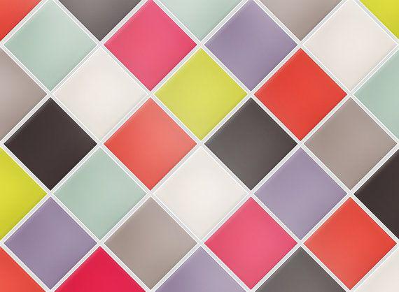 "Kitchen Tile Decal Tile Stickers Set ""Summer Rain"" for bathroom or kitchen,  Tile Mural, Tile Cover, Tile Coasters"