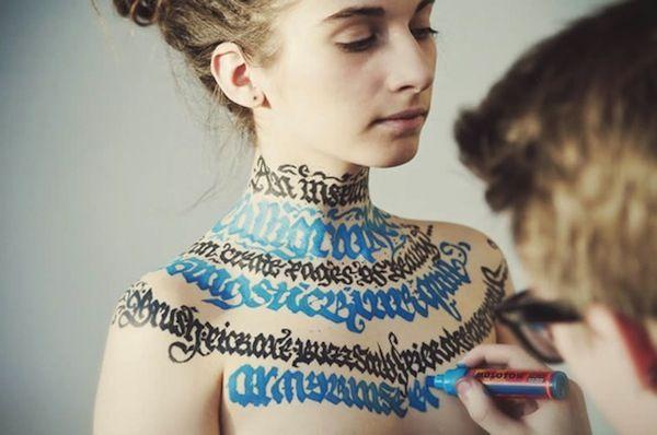 Body Calligraphy Art - Pokras Lamp