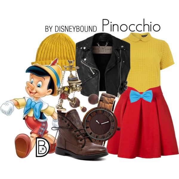 Disney Bound - Pinocchio, love the knit top and the skirt. I am not a fan of the beanie or the boots
