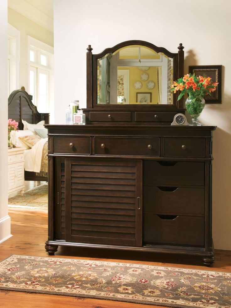 Paula Deen Home Collection  The Ladyu0027s Dresser And The Ladyu0027s Storage  Mirror In A Tobacco