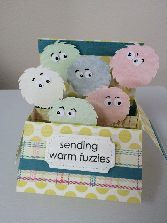 Warm Fuzzies card in a box horizontal by MessagesAndMemories