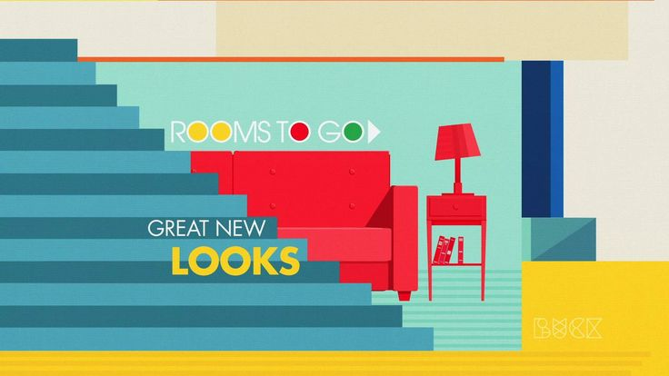 Rooms To Go motiongraphics / illustration