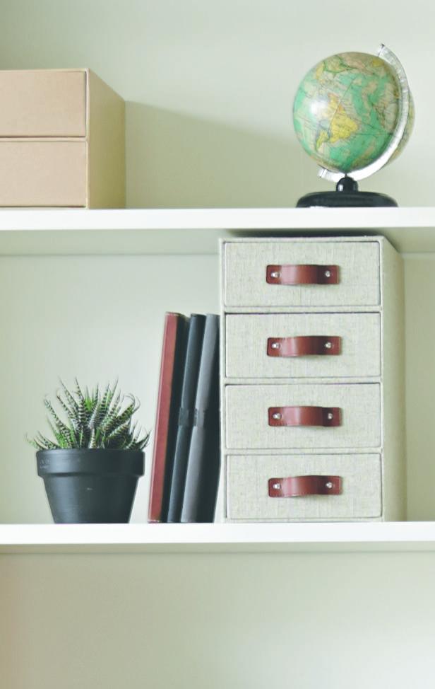X 4 High Vertical Storage Drawers Linen